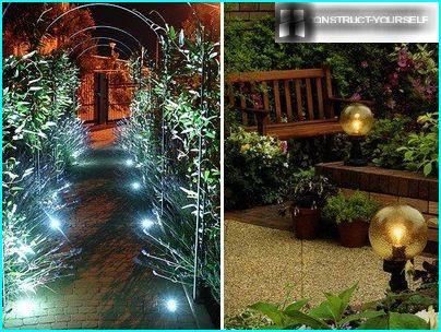 Night lighting in the garden