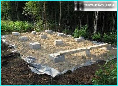 The foundations of cabins