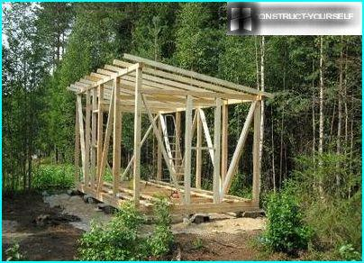 Building carcass roof and cabins
