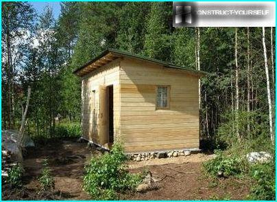 Finished shed with your own hands