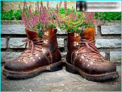 Vecchie scarpe di fiori