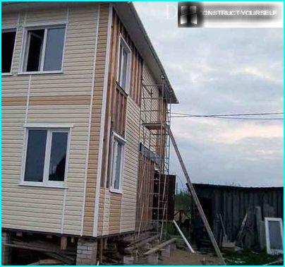 Installation of exterior sheathing house siding