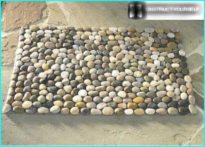 The finished Mat of pebbles