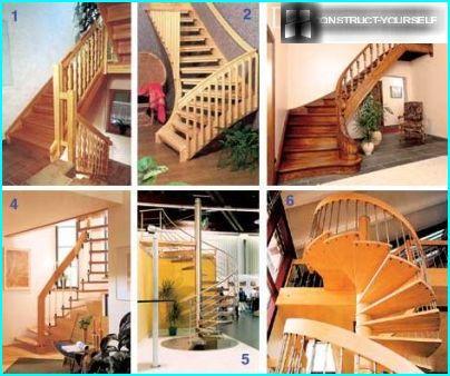 Varianter af trapper til en sommerresidens