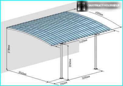 A plan for the construction of single carport