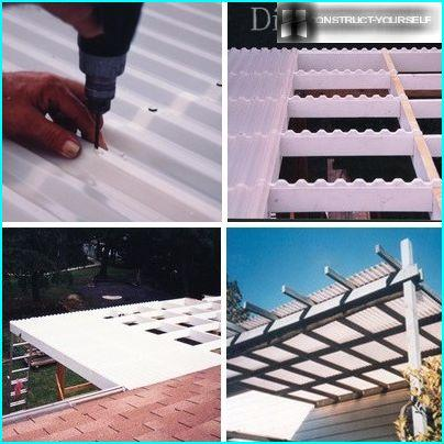 Installation of polycarbonate sheets