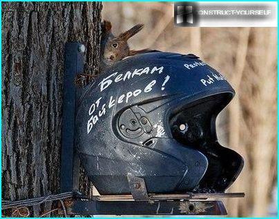 En gave til egern fra cyklister