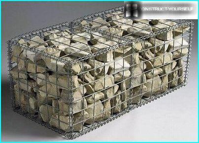 Il gabbione è costituito da un telaio a rete rettangolare e un riempitivo