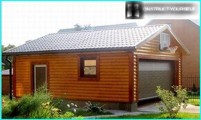 Costruzione di un garage in legno