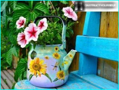 Old decorated teapot