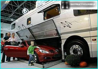 Caravane avec garage