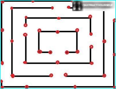 Labyrintin asettelu leikkipaikalle