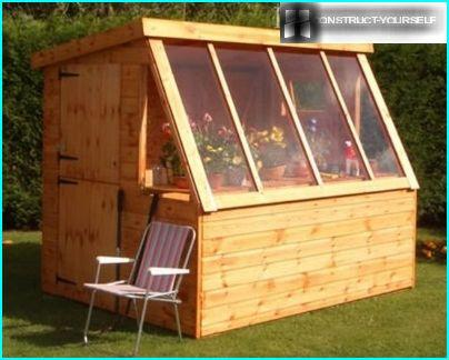 Combination shed greenhouse