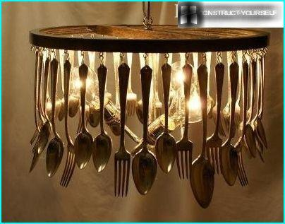 Chandelier made of Cutlery