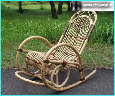 Chair made of rattan