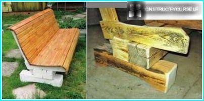 Ampia panca in legno di pino con schienale confortevole