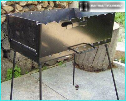 Grill aus Metall