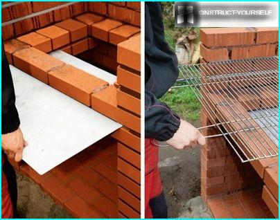 Install the drip tray and grille