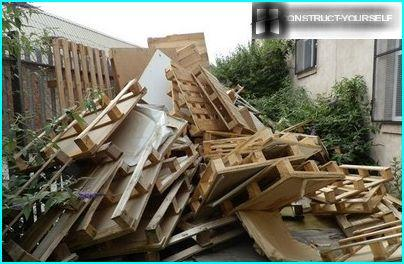 Recycling of waste pallets