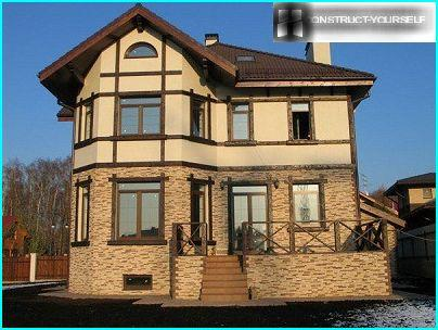 The combination of stone and stucco