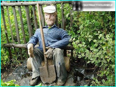 Mann med spade
