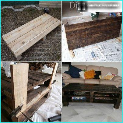 The process of making a coffee table
