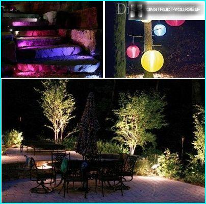 Properly designed lighting will transform the patio in the evening