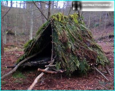 Waldhütte für eine Übernachtung