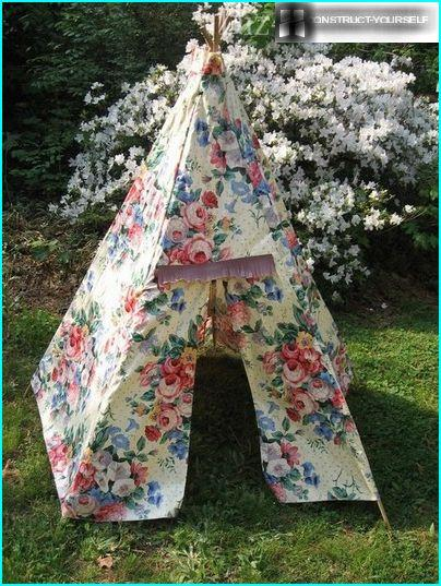 The tent of fabric - a quick solution