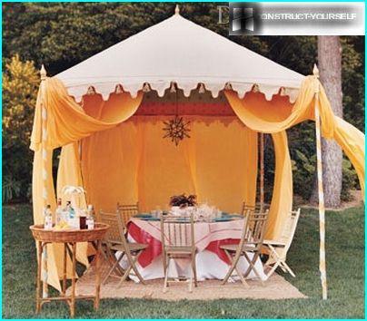 Options de conception de tente