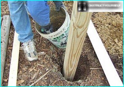 La construction de piliers de soutien