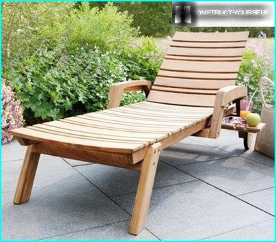 Dārza sauļošanās krēsls