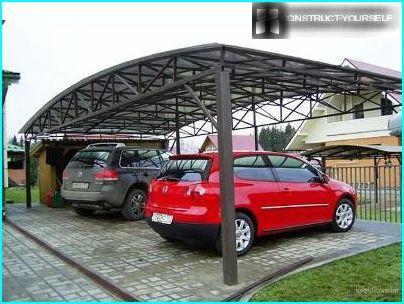 Autostāvvieta vairākām automašīnām