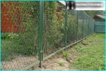 Requirements for a fence between the adjacent sections