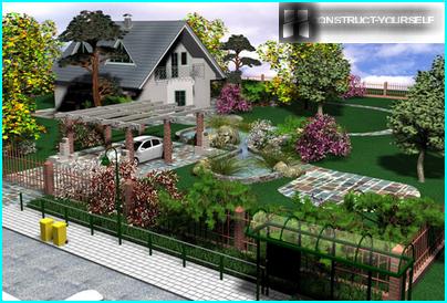 Dekoration des Grundstücks mit dekorativen Elementen