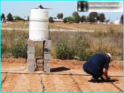 Barrel for drip irrigation