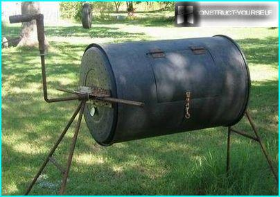 Manual homemade cement mixer