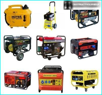 Compact gasoline generators