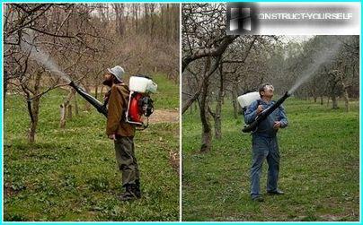 Bensindrevne hagesprøyter