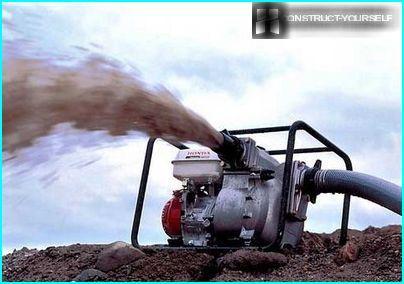 Pump with diesel engine