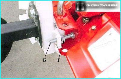 Fastening tool for walk-behind tractor