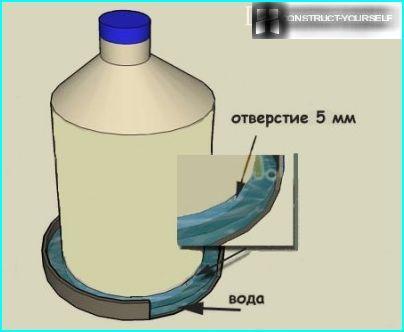 Bouteille de cinq litres pour robinet de ballast