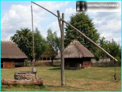 In Sadove get water through wells crane