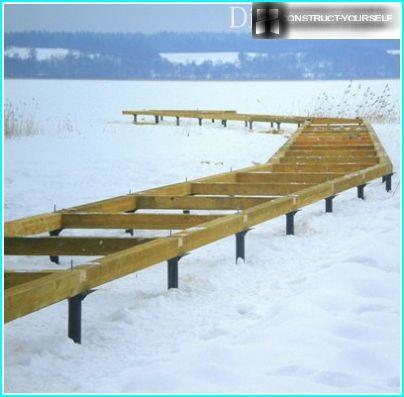 Installazione del molo in inverno
