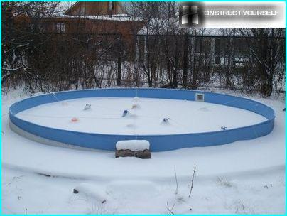 The use of expansion joints at the conservation pool for the winter