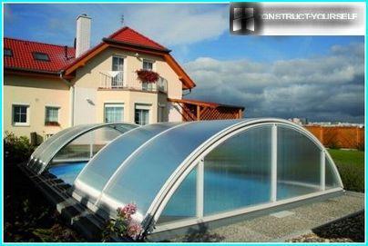 Plastic protective pavilions