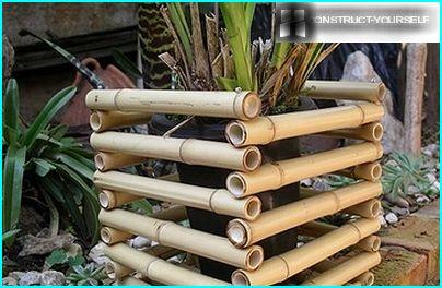 Decorative planter made of bamboo