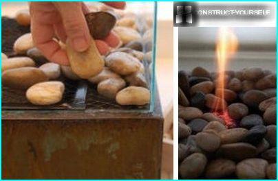 Decorazione a griglia con pietre