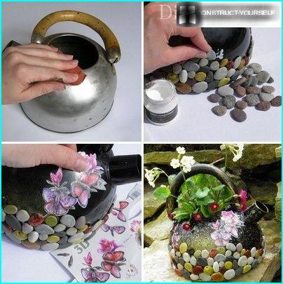 Fire trin til at oprette en mini blomsterbed fra en tekande