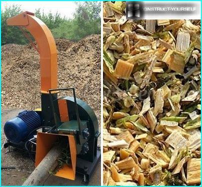 Production de copeaux de bois à l'aide d'une machine à bois